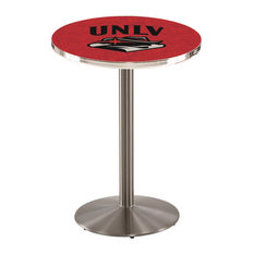 L214 - 36-inch Stainless Steel UNLV Pub Table By Holland Bar Stool Co.