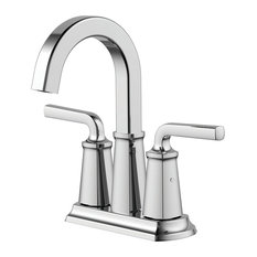 """Chesapeake 4"""" Centerset Bathroom Faucet With Pop-Up Drain, Polished Chrome"""