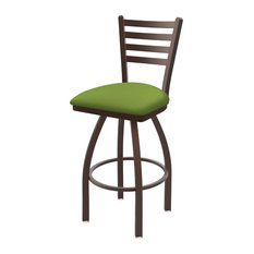 410 Jackie 30-inch Swivel Bar Stool With Bronze And Canter Kiwi Green Seat