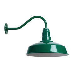 Short Neck Barn Lighting - The Gardena Farmhouse Style Steel Light, Green