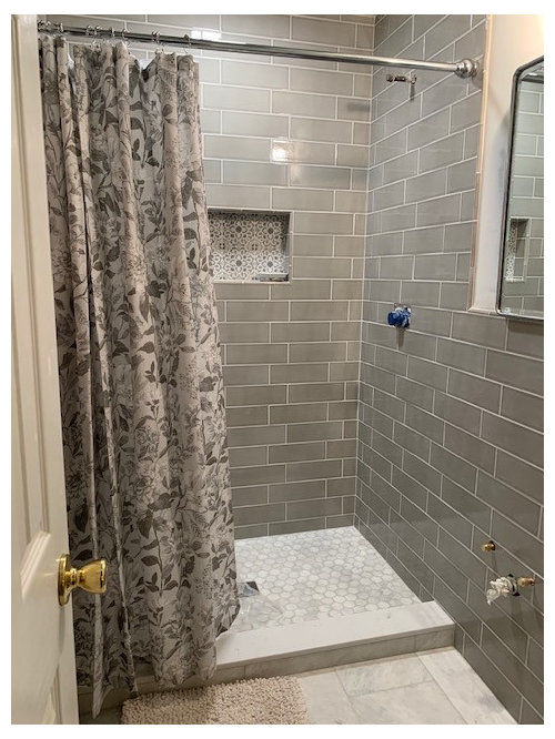What Color Paint Wall Goes With, What Color Goes With Gray Shower Curtain