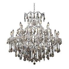 Elegant Maria Theresa Dining Room Light, Chrome Finish With Swarovski Elements
