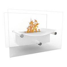 Regal Flame Arkon Tabletop Portable Bio Ethanol Fireplace, White