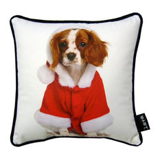 "Christmas King Charles 8070 Pillow, 12""x12"""