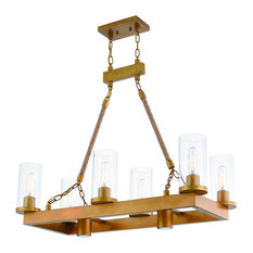 Livex Lighting Metuchen Light Linear Chandelier, Aged Gold