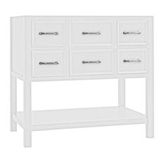 "Ronbow 052736-W01 Newcastle Neo-Classic 36"" Bathroom Vanity Cabinet Base, White"