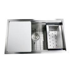 nantucket sinks pro series rectangle undermount stainless prep station sink 30 kitchen - Kitchen Sink