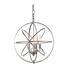 Elegant Lighting Vienna 5-Light Pendant, Polished Nickel