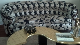 Channel back Sofa Reupholstery