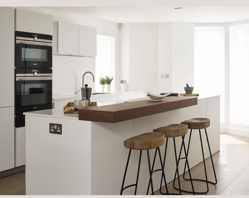 Shall We Ask Him To Cut The Worktop Fit Breakfast Bar As Per Pic 1 Or Later On Install It Top Of 2