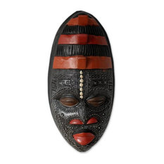 Akan Blessing Ghanaian Wood Mask