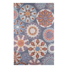 Summit, Hand-Hooked Rug, Blue, 8'x10'