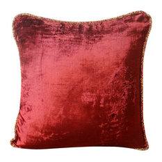 "Solid Color Maroon Pillows Cover, Velvet 12""x12"" Pillow Cover, Maroon Shimmer"