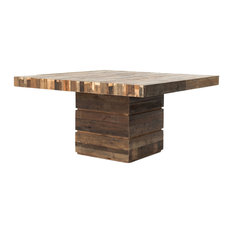 marco polo imports hunter rustic lodge chunky reclaimed wood square dining table dining tables art deco dining