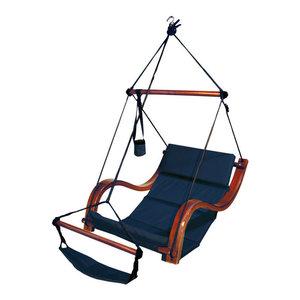 Leisuremod Patio Hanging Hammock Wicker Egg Swing Lounge