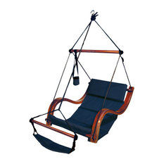 Residence   Lana Hanging Chair, Blue   Hammocks And Swing Chairs
