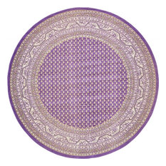 Traditional Wingate 8' Round Lilac Area Rug