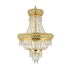 50 most popular gold chandeliers for 2018 houzz french empire crystal chandelier chandelier gold 22x15 3 light aloadofball Image collections