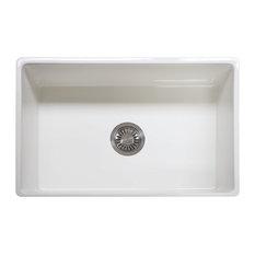 Franke   Franke Farm House Undermount Fireclay Kitchen Sink, 30 Inch Width,  FHK710