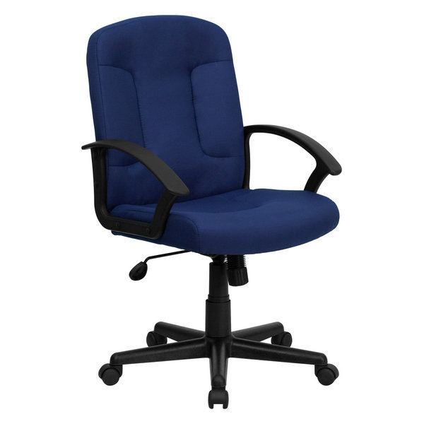 MFO Mid-Back Navy Fabric Executive Swivel Office Chair with Nylon Arms