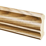 "Inteplast Building Products - Polystyrene Crown Moulding, Set of 5, 1/2""x3-3/16""x96"",, Ultra Oak - Inteplast Woodgrain Mouldings are the ideal way for you to add style and beauty to your home. Our mouldings are lightweight and come prefinished making them an easy weekend project. Inteplast Woodgrain Mouldings feature a rich wood grain texture with colors that give the natural appearance of expensive, hand-finished mouldings without the hassle of labor-intensive finishing processes making them the perfect accent for your room."