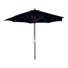 Market Wood Umbrella, Black