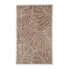 Plushrugs Imports Arte 831 Rs 8 Round Wheat Tree Branch Rug