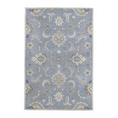 Jaipur Living Abers Handmade Blue/Taupe Rug, 5'x8'