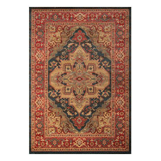 Ghazni Machine Made Area Rug, Navy, 2'x3'