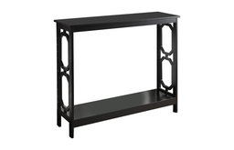 Console Table in Black Finish