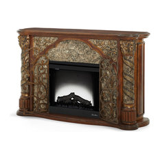 Emma Mason Signature Villa Gloria 2pc Fireplace W/Insert W/Heater And LED Lights
