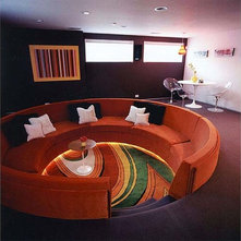 Contemporary Living Room by Roger Hirsch Architect
