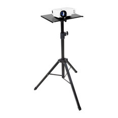 Mount-It! Tripod Projector Stand | DJ Laptop Stand with Height & Tilt Adjustment