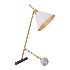 Kelly Wearstler Cleo Table Lamp, Bronze With Antique-Burnished Brass
