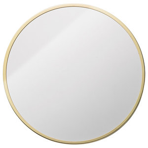 Bloomingville Round Wall Mirror, Gold Frame, 38x38 cm
