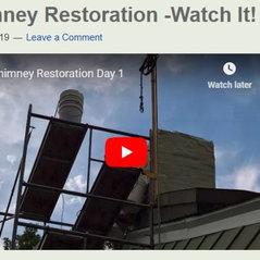 Chimney Restoration Video Day 1