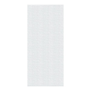Plain Jacquard Woven Vinyl Floor Cloth, Off-White, 70x250 cm