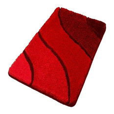 Lovely Plush Washable Red Bathroom Rugs, Large   Bath Mats
