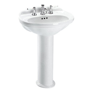 """Toto Whitney Lavatory Only With 8"""" Centers, Cotton"""