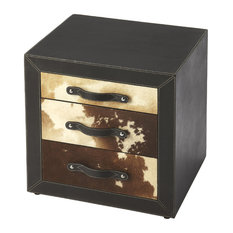Exceptional Butler Specialty Company   Butler Ella Leather U0026 Hair On Hide Side Table    Side Tables
