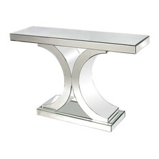 Dimond - Dimond Mirrored Console Table, Clear - Console Tables