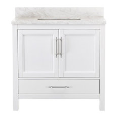 Kendall White Bathroom Vanity, 36""