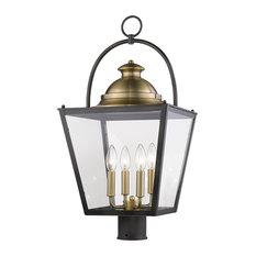 Savannah 4-Light Oil-Rubbed Bronze Post Mount Light
