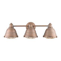 Golden Bartlett 3-LT Bath Vanity Light 7312-BA3 CP, Copper Patina