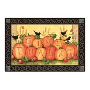 Give Thanks Scarecrow MatMates Doormat