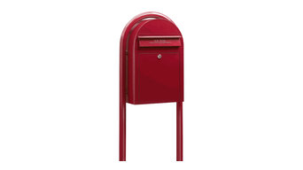 Red Modern Lockable Mailbox and Post Package