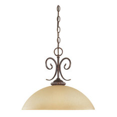 Designers Fountain 99332 Single Light Down Lighting Pendant from the Belaire Col