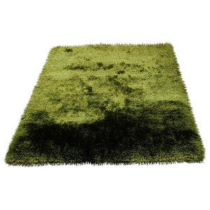 Plush Rug, Green, 140x200 cm