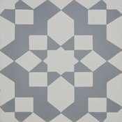 "8""x8"" Affos Handmade Cement Tile, Gray/White, Set of 12"