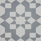 "8""x8"" Affos Handmade Cement Tile, Gray/White, Set of 12"